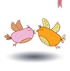 Bird cartoon. vector illustration.