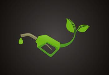 Bio fuel logo vector