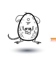 cartoon mouse, vector illustration.