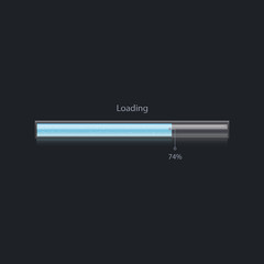 Vector progress loading bar