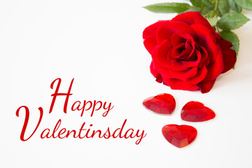 Valentinsday - Rose with Hearts and Font