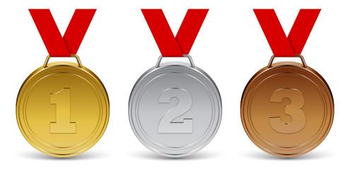 Médailles vectorielles 1