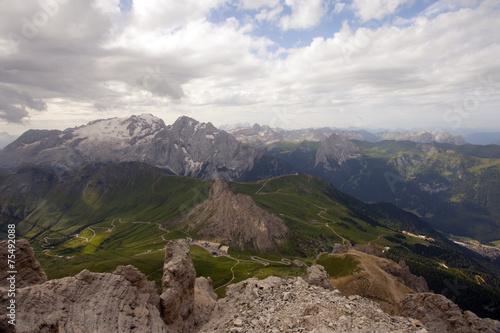 Passo Pordoi La Terrazza Delle Dolomiti Stock Photo And Royalty