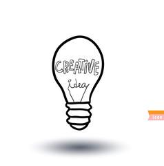 Bulb lamp idea icon, vector illustration