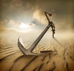 Anchor in desert