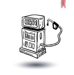 gas pump Electricity icon - vector illustration
