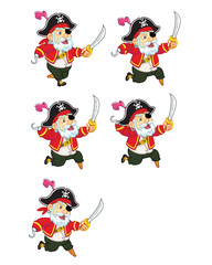 Old Pirate Jumping Sprite