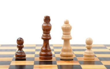Chess figures as interracial family