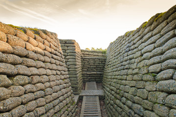 The trenches on battlefield of Vimy ridge France