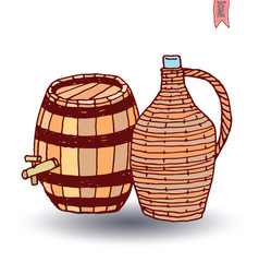 barrel icon, vector illustration