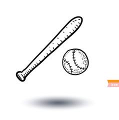baseball, Sport icon, Hand drawn vector illustration