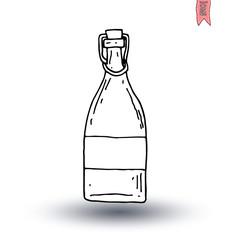 Bottle icon, vector illustration