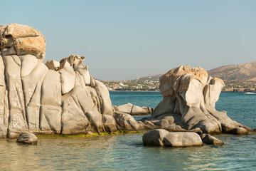 Famous Kolymbithres beach on Greek Paros island