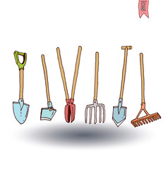 Gardening tools , vector illustration.
