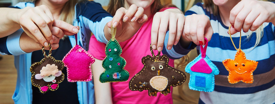 hand made felt Christmas tree decoration
