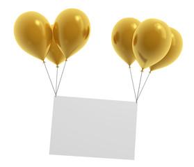 Ballon Gold Schild