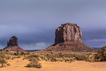 sandstone buttes in a region of the Colorado Plateau in AZ
