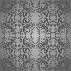 Grey vintage floral background