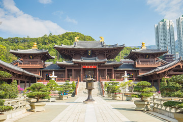 Chi Lin Nunnery in Diamond Hill, Kowloon, Hong Kong.