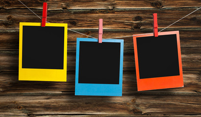 Color polaroid frames