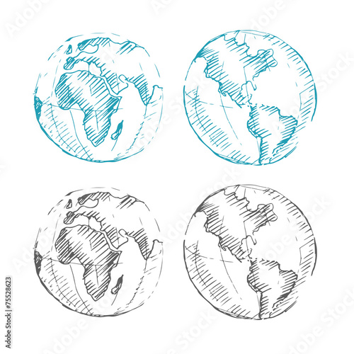 World map earth globe sketch vector illustration stock image and world map earth globe sketch vector illustration gumiabroncs