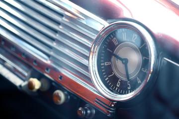 Poster Vintage voitures Vintage car clock