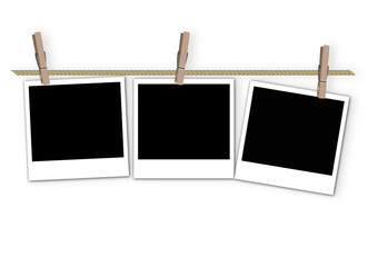 pictures frame with clip on the rope
