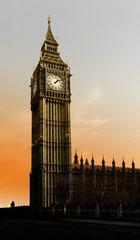 Big Ben mit Sonnenaufgang