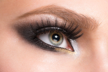 Closeup of eye makeup