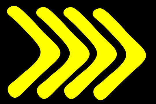 yellow arrows on black background...