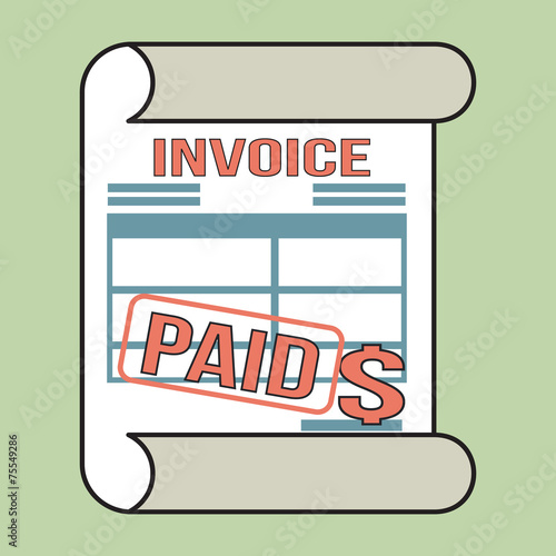 Invoice Bill Icon With Stamp Paid Stock Image And Royaltyfree - Invoice paid stamp