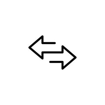Data Transfer Trendy Thin Line Icon