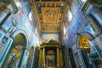 Interior of the Basilica di San Giovanni in Laterano, Rome