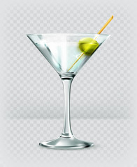 Martini cocktail, vector icon