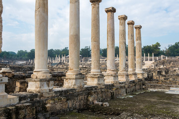 Row of columns on Silvanus Street in Bet She'an