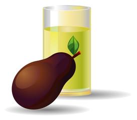 Avocado juice vector
