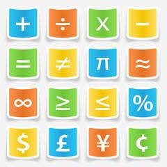 Math Symbol Stickers