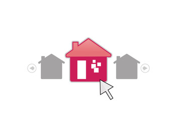 Select home selling logo vector