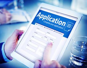 Application Human Resources Hiring Job Recruitment Concept