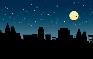 Fototapete - night city