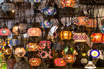 Lamps in Turkish shop, Istanbul