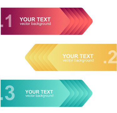 Vector colorful text boxes, infographics