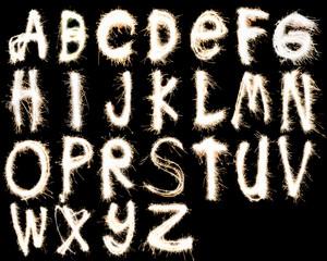 fireworks alphabet