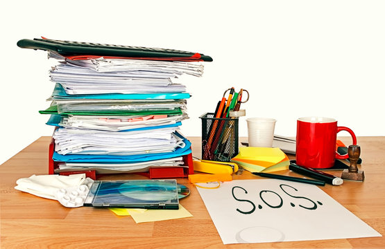 SOS employment work, problem. Concept. Stress, overwork.