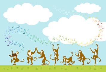 サルとダンス