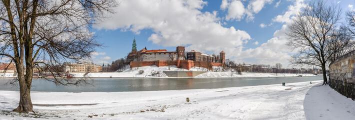 Fototapeta Wawel zimą - panorama