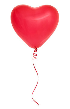 Red heart shaped balloon.