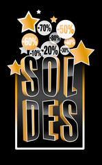 Soldes - Gold and Black - Luxe