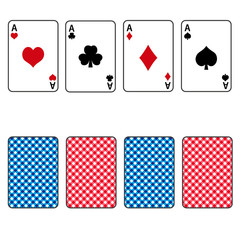 playing cards set of four ace eps10
