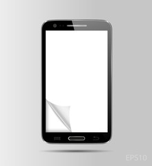 Smart phone, realistic vector illustration
